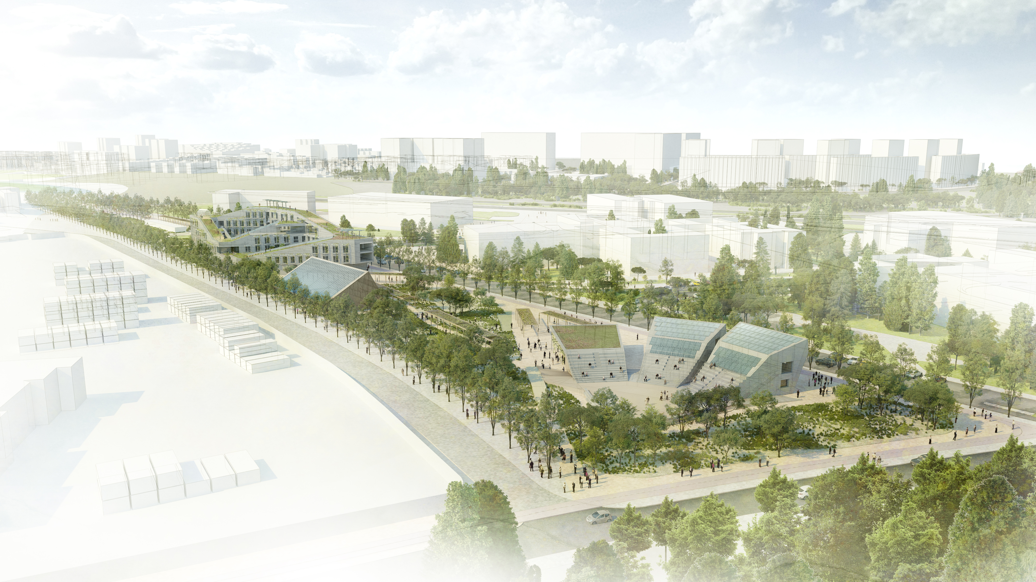 Reinventing Cities-Campus for Living Cities - general View